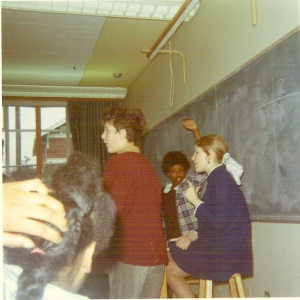 1970--my last day teaching at Meany. I was seven months pregnant--in those days you were supposed to quit by six months!