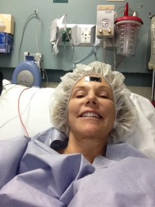 Right before surgery Selfie.