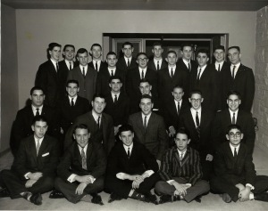 Cool fraternity guys in the early 60's.